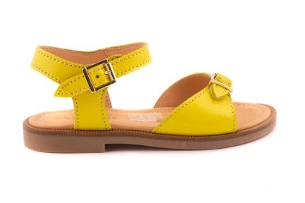 Sandaal 2 Gespen Lak Geel