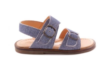 Sandaal Jeans 2 Gespen
