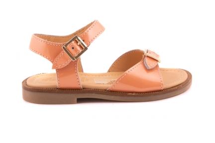 Sandaal 2 Gespen Lak Fluo Oranje