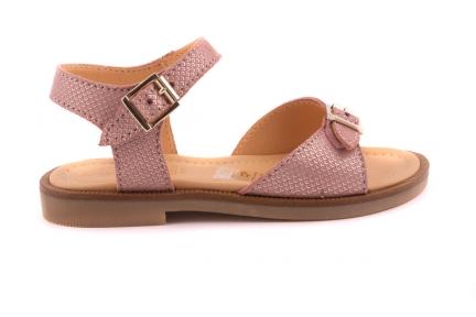 Sandaal 2 Gespen Roze Motief