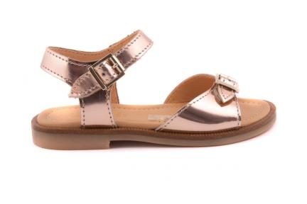 Sandaal 2 Gespen Koper Metallic