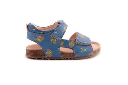 Sandaal Velcro Haai Blauw