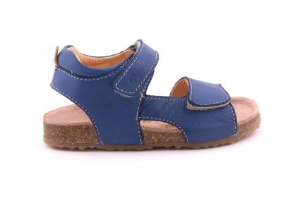Sandaal Blauw Leder Kurkzool