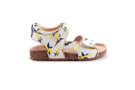 Sandaal Velcro Bliksem Geel Blauw