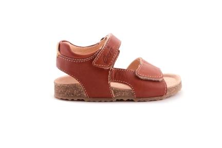 Sandaal Velcro Cognac