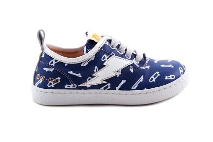 Sneaker Laag Blauw Skateboard