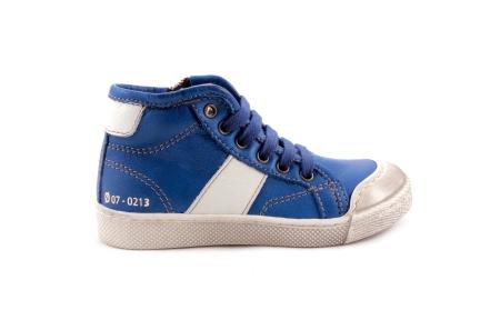 Sneaker Veter Blauw Met Wit Rubber Tip