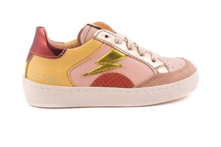 Sneaker Bliksem  Roze/geel