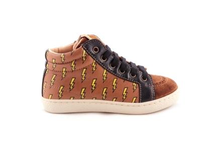 Sneaker Cognac Met Bliksem Vooraan Crosta