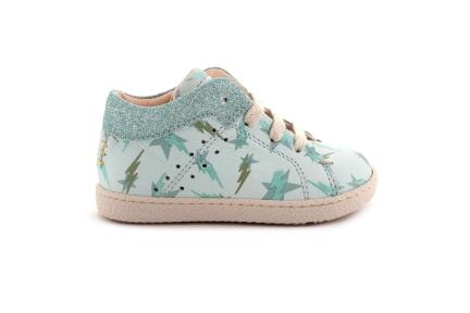 Sneaker Mint Met Glitter Randje Bliksem