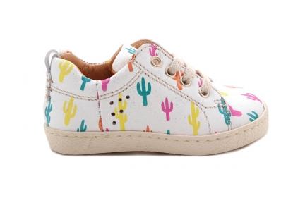 Sneaker Cactus Multicolor Laag Met Veter