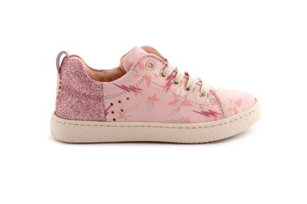 Sneaker Blksem Roze Met Glitter Veter Met Rits