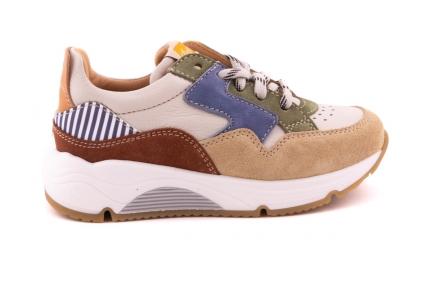 Sneaker Runner Blauw/groen/bruin