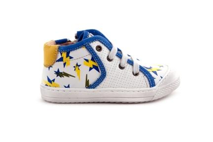 Sneaker Sportief Bliksem Geel Blauw