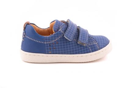 sneaker velcro blauw ruitjes