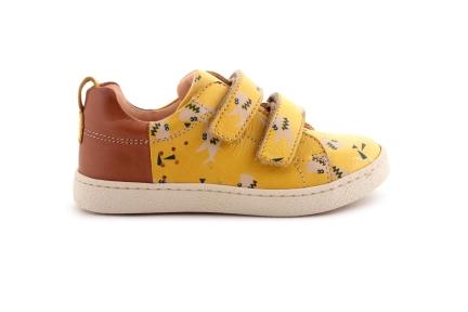 Sneaker Laag Velcro Haai Geel