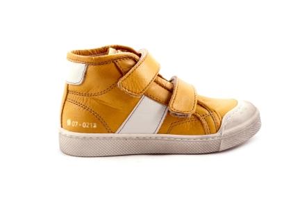 Sneaker Velcro Geel Met Wit Rubber Tip
