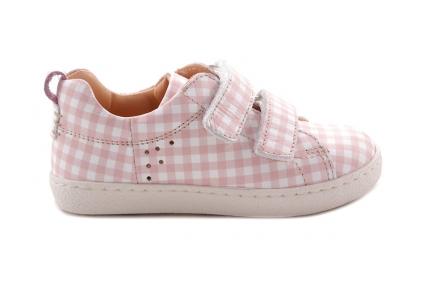 Sneaker Roze Carreau Laag Velcro