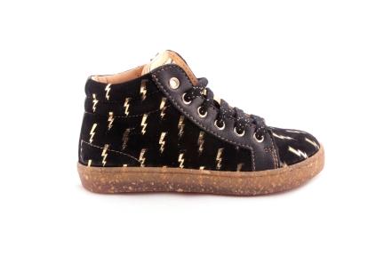 Sneaker Bliksems Zwart Daim