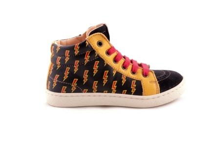Sneaker Zwart Met Bliksem Vooraan Crosta