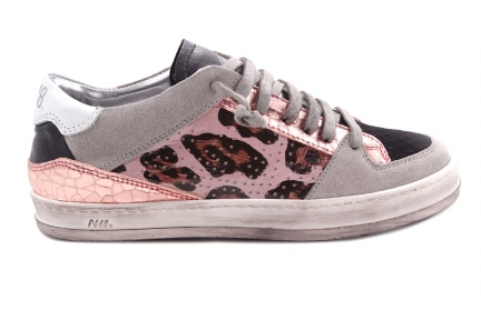 Sneaker Roze Leopard Opzij