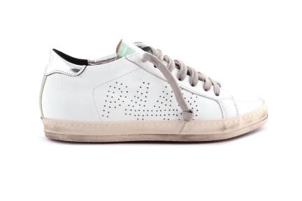 Sneaker Wit Spiegel Tip