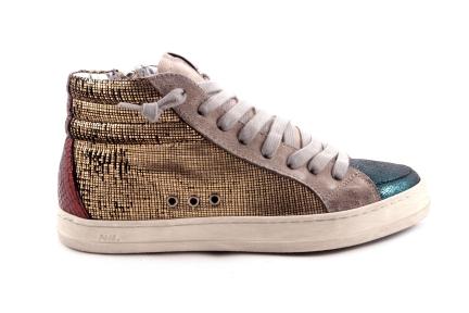 Sneaker Gouden Accent Hoog Groen Tip
