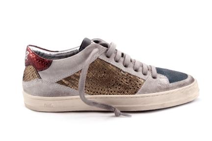 Sneaker Gouden Accent Laag Groen Tip