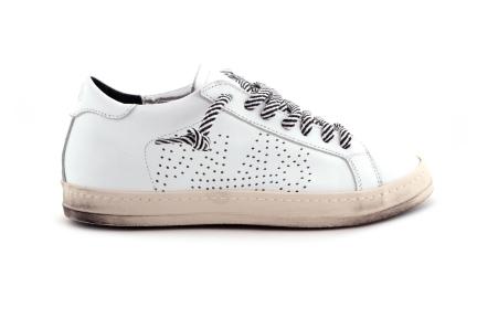 Sneaker Wit Zebra Veter