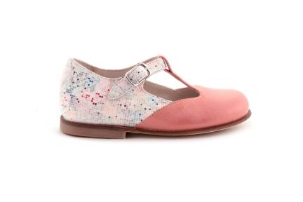 Schoen gesp T-model roze goud vooraan pixie Achteraan