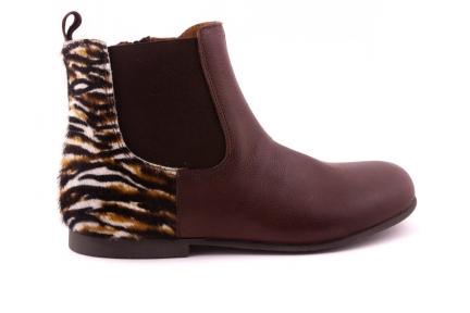 Laars Donkerbruin Leder Zebra Achteraan