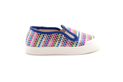 Sneaker loafer vlecht multi
