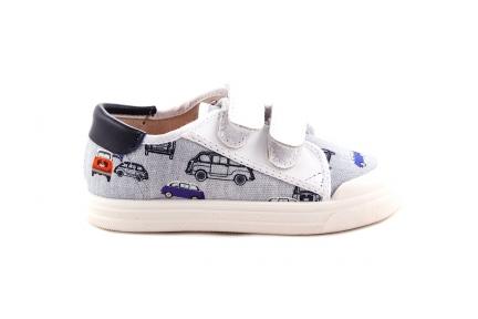 Sneaker Witte Velcro Auto
