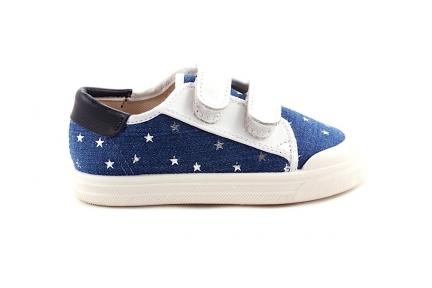 Sneaker Jeans Met Sterren Witte Velcro