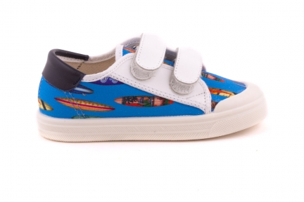 Sneaker 2 Witte Velcro Surfer