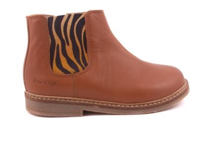 Laars Cognac Leder Zebra Rekker