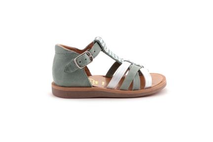 Sandaal Leder Mint T Met Driehoekjes
