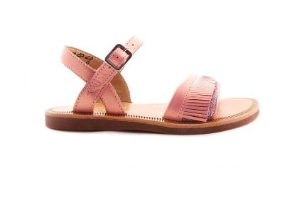 Sandaal Glitter En Fringes Roze