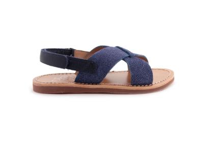 Sandaal Blauw Gekruist