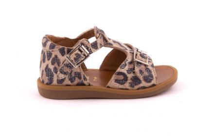 Sandaal Gespje Vooraan  Leopard