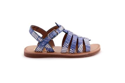 Sandaal Wit Blauw Gladiator