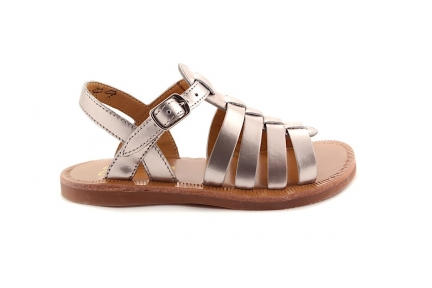 Sandaal Gladiator Nude Metallic