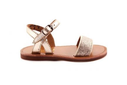Sandaal Glitter Vooraan Goud