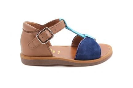 Sandaal T-model Blauw En Turquiose