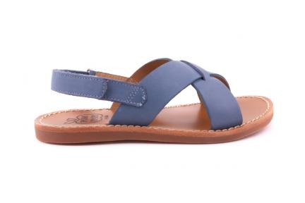 Sandaal Gekruist blauw