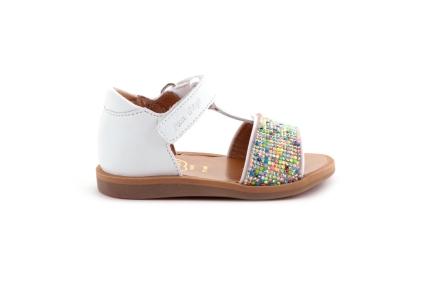 Sandaal Wit Pareltjes