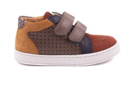Sneaker Velcro Multicolor Cognac