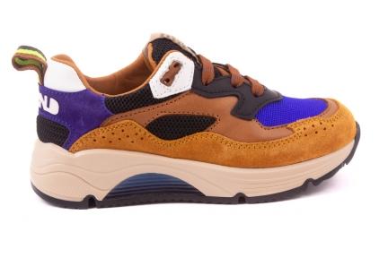 Sneaker Groot Runner Oker Blauw Bruin