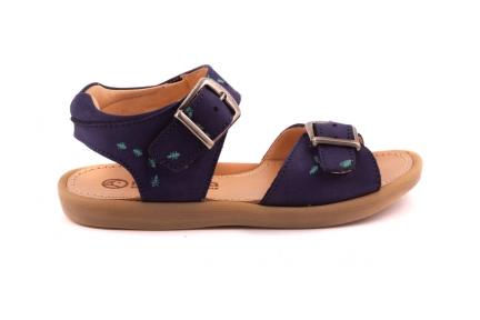 Sandaal Blauw Crosta Met Miertjesprint 2 Gespen