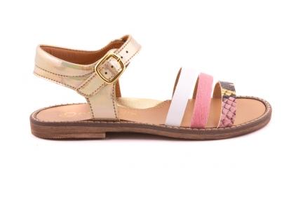 Sandaal Bandjes Vooraan Roze Snake/roze/wit Open Hiel